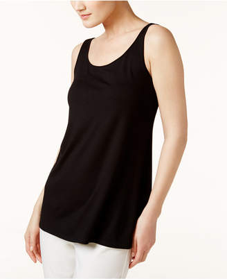 Eileen Fisher Stretch Jersey Sleeveless Scoop-Neck Shell, Regular & Petite