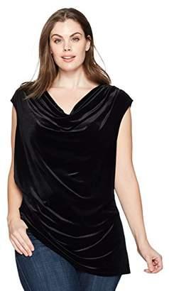 Calvin Klein Women's Plus Size Velvet Top with ANG Bt