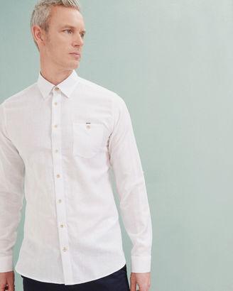Cotton and linenblend shirt $180 thestylecure.com