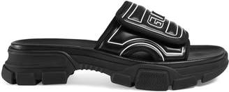 Gucci Men's logo leather slide sandal