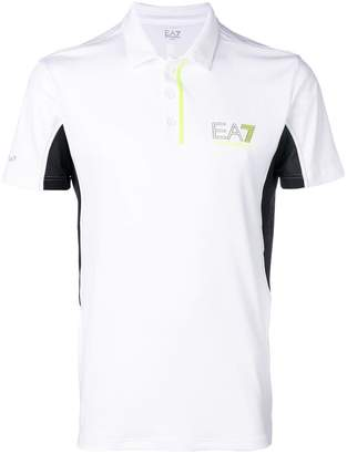 Emporio Armani Ea7 contrast short-sleeve polo top