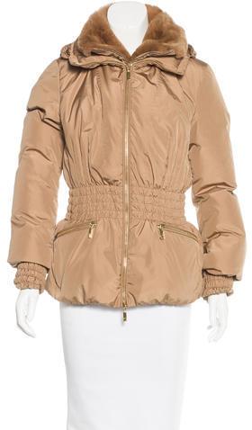 MonclerMoncler Beziers Fur-Trimmed Coat