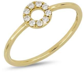 Bony Levy 18K Yellow Gold Diamond Open Circle Ring