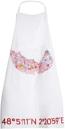 KILOMETRE PARIS Bay of Naples-embroidered cotton apron