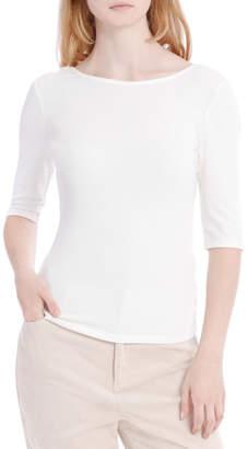 Milk and Honey Elbow Length Scoop Back Tshirt