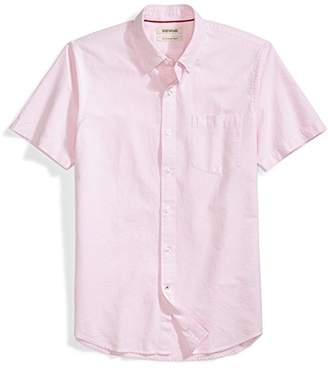 Goodthreads Men's Slim-Fit Short-Sleeve Solid Oxford Shirt with Pocket
