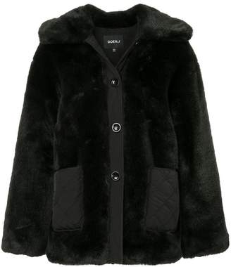 Goen.J oversized faux-fur jacket