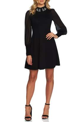 CeCe Embellished Collar Dress
