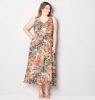 Avenue Jungle Floral Blouson Maxi Dress