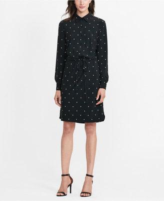 Lauren Ralph Lauren Polka-Dot Jersey Shirtdress $145 thestylecure.com