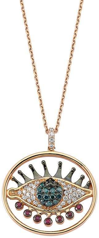 Bee Goddess Circle Eyelight DiamondNecklace