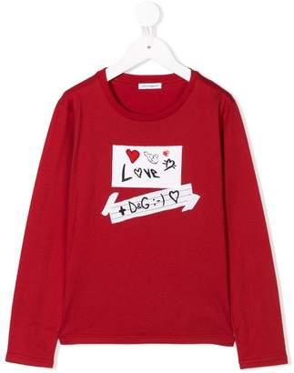 Dolce & Gabbana long-sleeve printed T-shirt