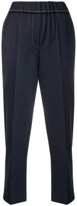Brunello Cucinelli high waisted cropped trousers