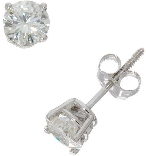 14k White Gold 1-Ct. T.w. Moissanite Round Stud Earrings