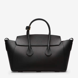 Bally Sommet Medium Black, Women's medium leather top handle bag in black