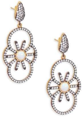 Azaara Women's Crystal & Sterling Silver Drop Earrings