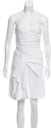 Christian Dior Ruched A-Line Dress