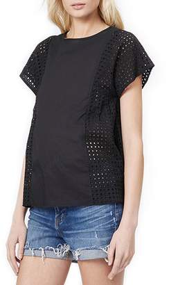 Loyal Hana Tara Eyelet Panel Maternity/Nursing Blouse