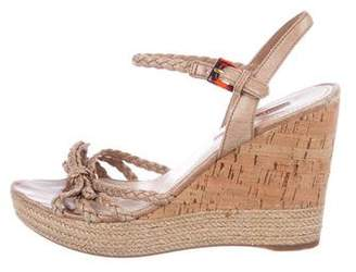 Prada Sport Braided Wedge Sandals