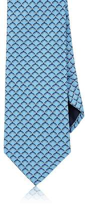 Barneys New York MEN'S INTERLOCKING-RING-PRINT SILK NECKTIE