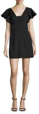 Milly Stretch-Cotton Poplin Deni Dress