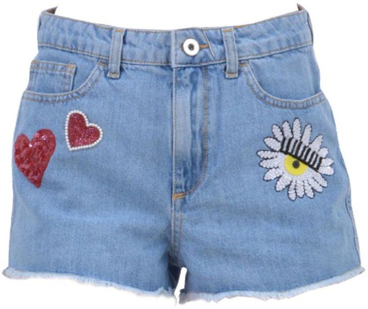 Chiara FerragniChiara Ferragni Embellished Denim Shorts