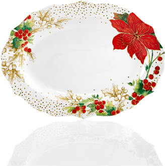 222 Fifth Winter Confetti Dinnerware Collection Oval Platter
