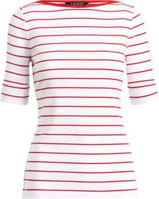 Ralph Lauren Knit Elbow-Length-Sleeve Top