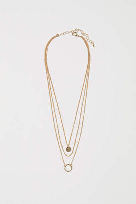 H&M Triple-strand Necklace - Rose gold-colored - Women