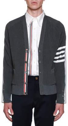 Thom Browne Men's Half Shirt Half V-Neck Cardigan