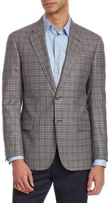 Emporio Armani G Line Checked Wool Jacket