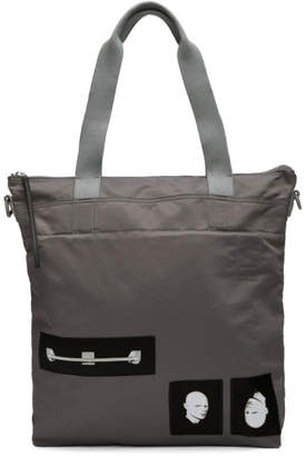 Rick Owens Grey Techno Trench Large Tote Bag
