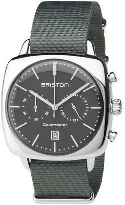 Briston Clubmaster Vintage Chronograph Nylon Strap Watch, 40mm x 40mm