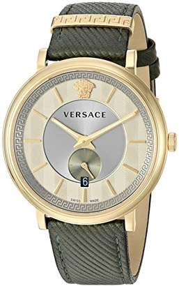 Versace Men's 'The Manifesto Edition' Quartz Stainless Steel and Leather Casual Watch