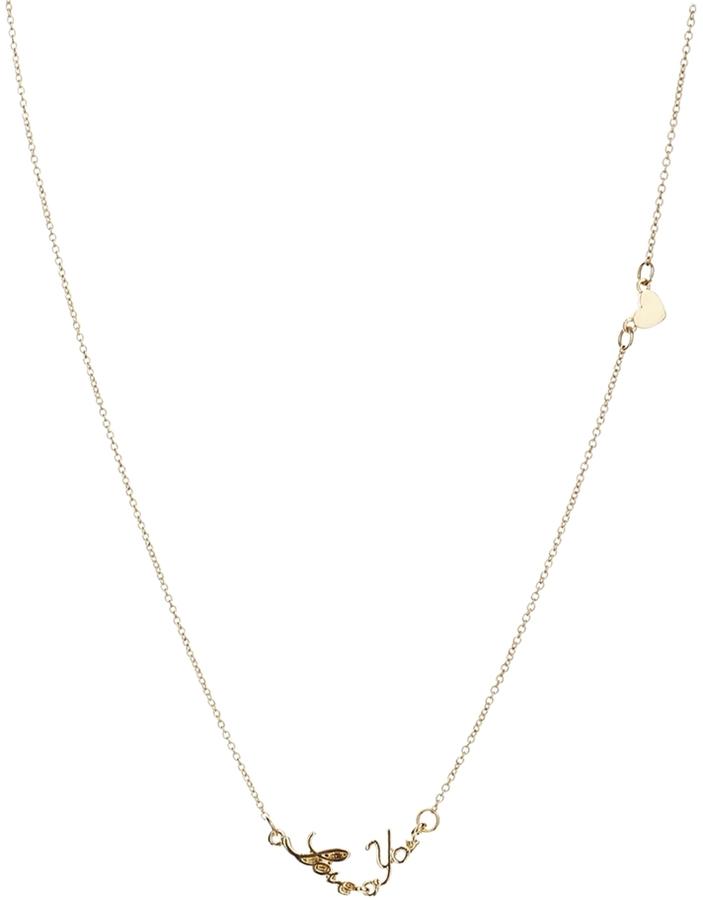 Asos Love You Necklace - Gold