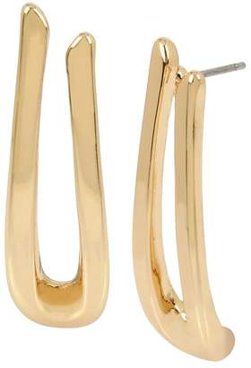 Robert Lee Morris Soho Sculptural U-Shaped Drop Earrings