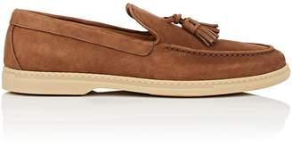 Barneys New York Men's Tassel-Embellished Suede Loafers