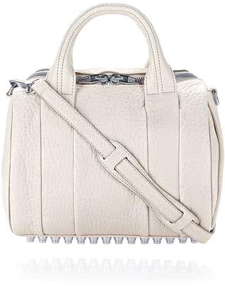 Alexander Wang Rockie In Pebbled Opaline With Rhodium