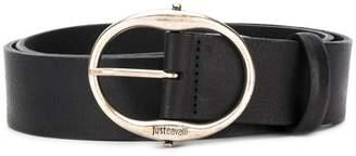 Just Cavalli engraved logo buckle belt