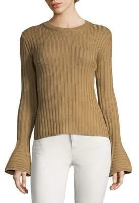 Ronny Kobo Bell Sleeve Wool Sweater
