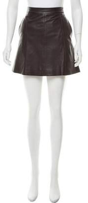 Marc by Marc Jacobs Leather Mini Skirt