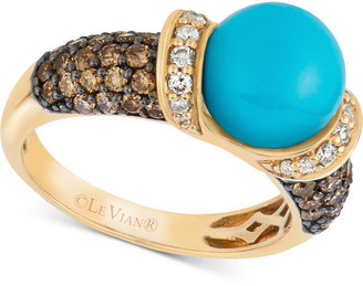 Le Vian Robin's Egg Turquoise (3/4 ct. t.w.) and Diamond (7/8 ct. t.w.) Ring in 14k Gold $3,999 thestylecure.com