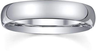 MODERN BRIDE 4mm Silver Domed Mens Wedding Ring