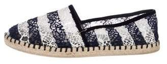 Louis Vuitton Crochet Round-Toe Espadrilles
