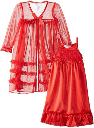 Komar Kids Little Girls' Toddler Peignoir Gown Set