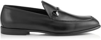 Jimmy Choo MARTI Black Soft Nappa Leather Loafers