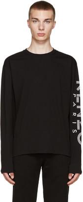Kenzo Black Sleeve Logo T-Shirt $145 thestylecure.com
