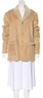 Neil Barrett Faux Suede Short Coat