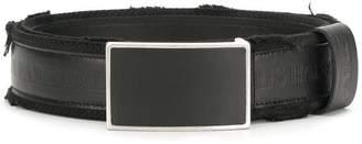Balmain embossed logo crest belt