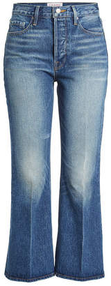 Frame Rigid Re-Release Le Crop Flared Jeans